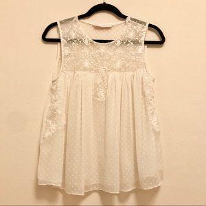 Gorgeous Embroidered white blouse